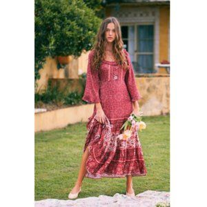 Arnhem Esmee Midi Dress in Ruby AU 8